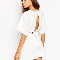 ASOS Kimono Playsuit with Open Back and D-Ring