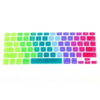 """Colorful Silicone Keyboard Cover Keypad Skin Protector For Apple Macbook 11""""13"""" 15"""" Rainbow Laptop Keyboard US Version"""