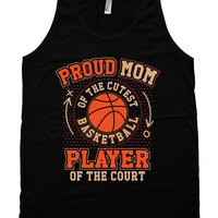 Basketball Mom Tank Basketball Gifts For Mom Sports Mom Shirts Basketball T Shirt Mothers Day American Apparel Unisex Tank Top MD-657