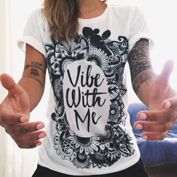 Short Sleeve Letter Print Casual Top White T-Shirt