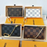 LV Louis Vuitton Hot Sale Canvas PU Leather Small Coin Purse Key Pouch I/A