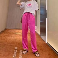 """Balenciaga"" Women Casual Sports Simple Retro Loose Solid Color Comfotable Pants Leisure Pants Sweatpants"