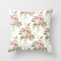 SOUTHERN BELLE FLORAL  Throw Pillow by Madisyn Nicole