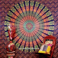 Blue Hippie wall hanging mandala tapestry throw bedspread
