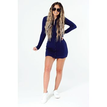Casual Babe Dress: Navy