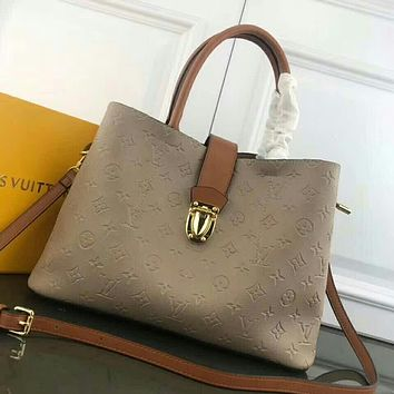 LV Louis Vuitton MONOGRAM LEATHER CITY CRUISER HANDBAG INCLINED SHOULDER BAG