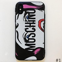 Moschino Tide brand big eyes iPhone7plus mobile phone case all inclusive soft shell #1