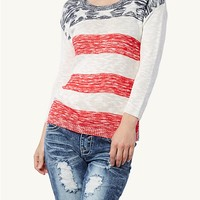 American Flag Knit Pullover