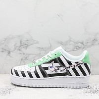 Nike  Air Force 1 X  Off-white White Black Green Sneakers - Best Deal Online