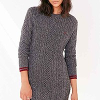 Fred Perry Tipped Cable-Knit Dress- Grey