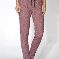 Lightweight Knit Marled Drawstring Jogger Sweatpant