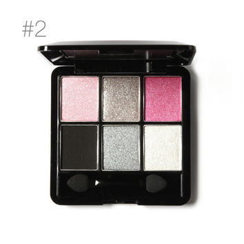 6 Color Smoky Eye Shadow Palette (Glam)