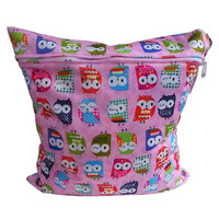Fashion Reusable Baby Cloth Diaper Nappy Wet&Dry Bag Swimmer Zipper Tote Cartoon Printed Nappy Bags