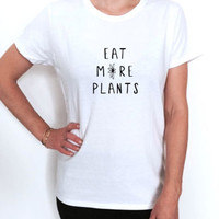 eat more plants T shirt women fashion vegan vegetarian vege veggies top tumblr