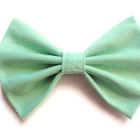 Mint Green Hair Bow - Large Mint Hairbow