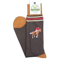 Fox Hunter Socks in Brown by Bird Dog Bay