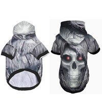 3D Printed Dog Clothes Skull Warm Dog Outdoor