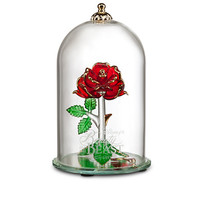 Disney Beauty and the Beast Enchanted Rose Glass Sculpture by Arribas - Large | Disney Store