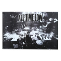 All Time Low Black And White Poster