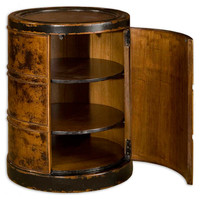 Uttermost Dark Cinnamon Lawton Drum Table