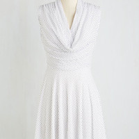 Mid-length Sleeveless A-line Down to a Wine Art Dress in Dots by ModCloth