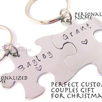 Personalized Gift for Couples, Name Keychain, Couples Keychain , Anniversary Gift