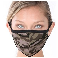 Keeping it in Style! Army Camouflage Face Mask with Filter Pocket