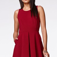 Kendall & Kylie Open Back Fit N Flare Dress - Womens Dress