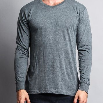 Men's Basic Light Weight Long Sleeve T-Shirt