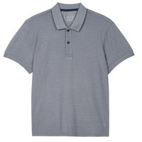 Blue Pique Oxford Polo