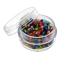 """6pc Screw-Top Clear Acrylic Bead Jars Containers 20ml - 1-3/4"""" x 1""""   AihaZone Store"""