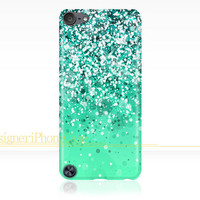 Glitter Sparkle iPod Touch 5 case Glitter iPod Touch 5 case Silver Sparkle iPod 5 case Glitter iPod 5 case Image Wrapped Around the Edges