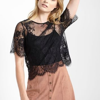 Black Currie Lace Top
