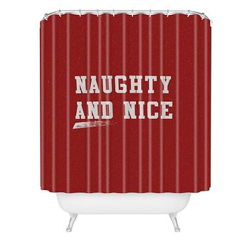 Leah Flores Naughty and Nice Shower Curtain