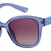 Polaroid - Pld 4070 S X Blue Sunglasses / Burgundy Gradient Lenses