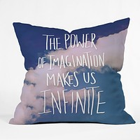Leah Flores Imagination Power Throw Pillow