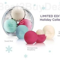 3 pack EOS Evolution Of Smooth lip balm Limited Edition VANILLA Holiday