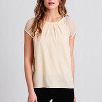 Sugar Wafer Lace Detail Top