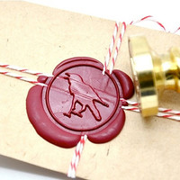 Raven Gothic Halloween Gold Plated Wax Seal Stamp x 1