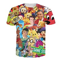Childhood TV Shows Collage T-Shirt