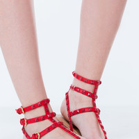 Three To One Strappy Studded Sandals