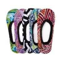 Womens Zig Zag Paisley Liners 5-pack , Assorted | Journeys Shoes