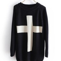 A 071005 s Cross sweater, Loose sweater