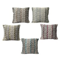 Checks Jacquard Embroidery Cushion Cover 45 x 45cm by Home Innovations