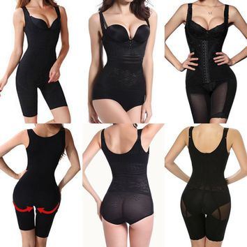 USPS Women Full Body Waist Trainer Shaper Waist Cincher Underbust Corset Shapewear