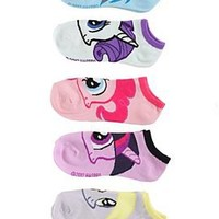 My Little Pony Faces No-Show Socks 5 Pair - 171615