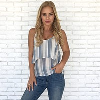 Coastal View Stripe Top