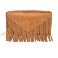 For Fringe Sake Wallet in Cognac