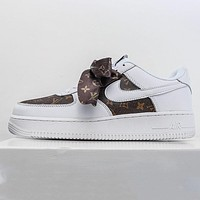 LV x Nike Air Force 1 low-top mesh breathable casual wild shoess