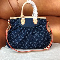LV Louis Vuitton WOMEN'S MONOGRAM JEANS CANVAS HANDBAG INCLINED SHOULDER BAG